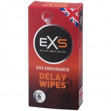 EXS Endurance Delay Wipes 6 pcs Pack 1
