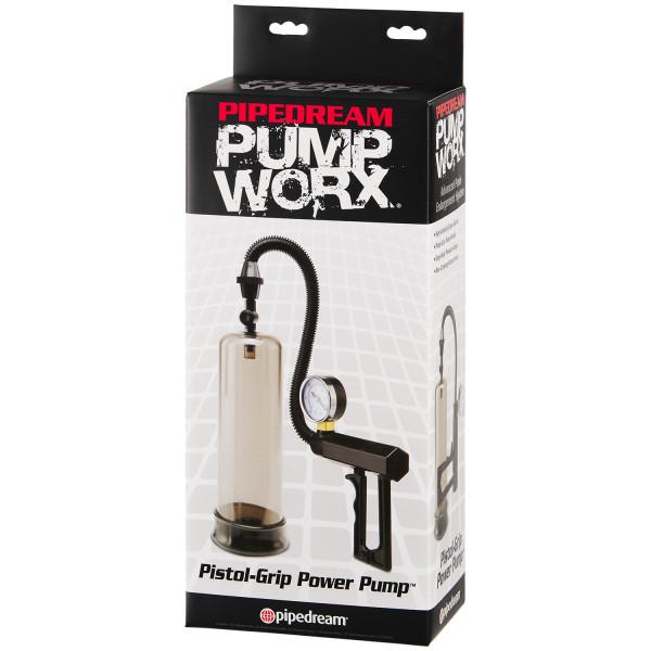 Pump Worx Pistol Grip Penispump med Tryckmätare bild på förpackningen 90