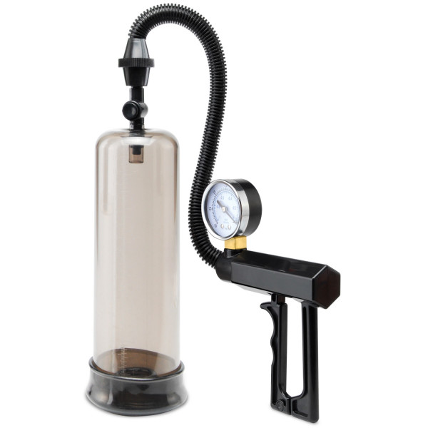 Pump Worx Pistol Grip Penispump med Tryckmätare