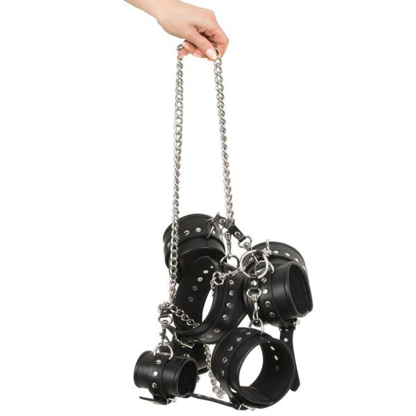 ZADO Metal Kedjeset med Lädermanchetter  4