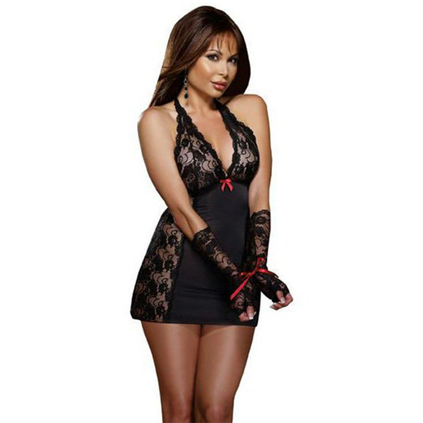 Dreamgirl Restrained Passion Chemise med Spets  3