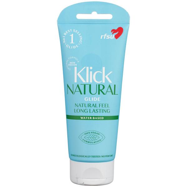 RFSU Klick Natural Glide Vattenbaserat Glidmedel 100 ml produktbild 1