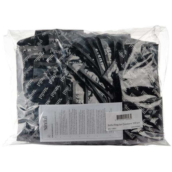 Sinful Regular Kondomer 100-pack bild på förpackningen 90