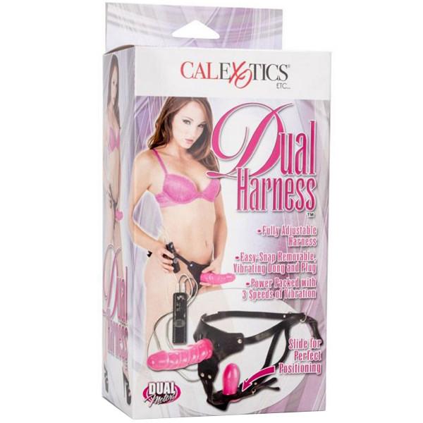 Calexotics Dual Harness Med Vibrator  2