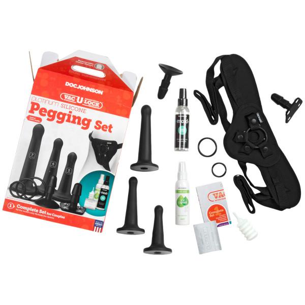 Vac-U-Lock Silikon Pegging Strap-On Set  3