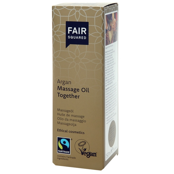 Fair Squared Vegansk Argan Massageolja 150 ml