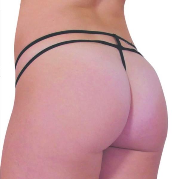 Baci Mesh Double Strap Stringtrosa