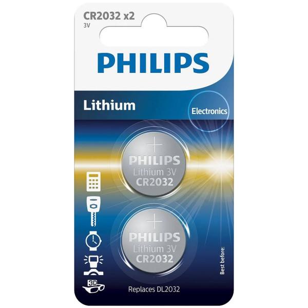 Philips CR2032 Alkaliskt Batteri 2 st produktbild 1
