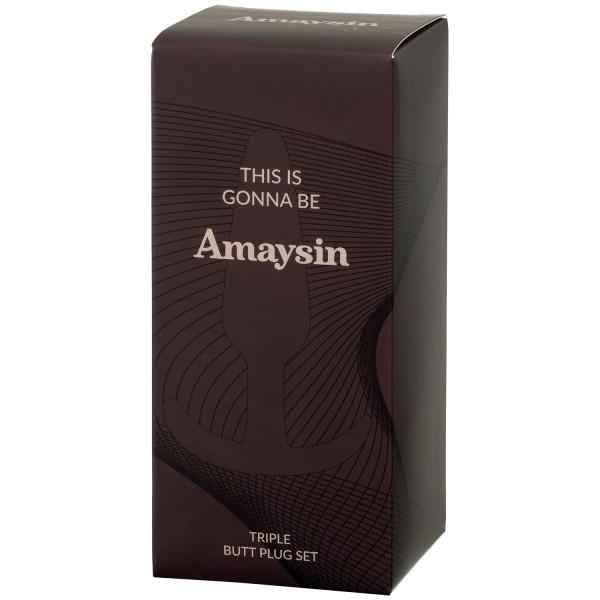 Amaysin Triple Butt Plug Set bild på förpackningen 90