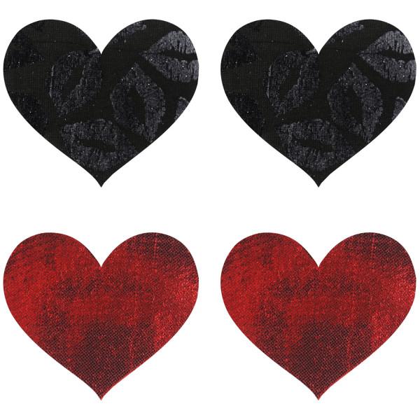 Peekaboos Nipple Stickers Hjärtan Röd 2-pack  1