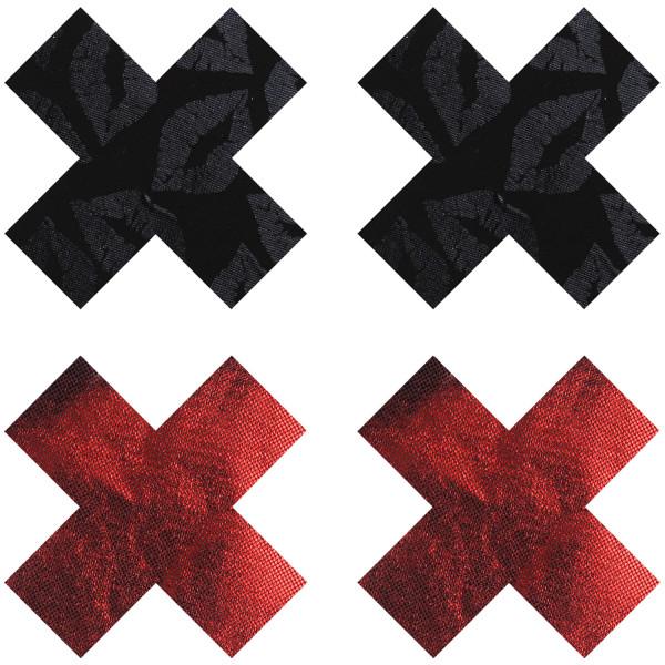 Peekaboos Nipple Stickers Kryss Röd 2-pack  1