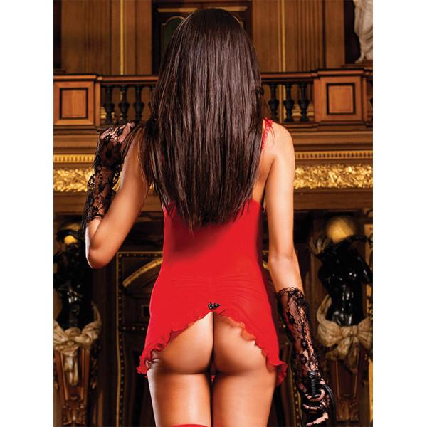Baci Miniklänning med Höfthållare Röd  52