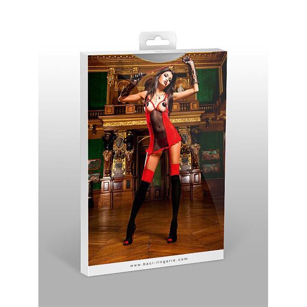 Baci Miniklänning med Höfthållare Röd  3