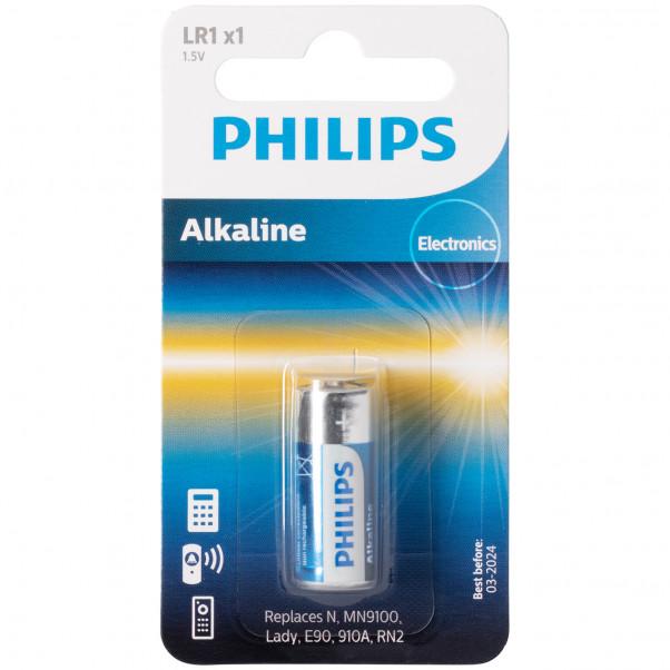 Philips Alkaline LR1 1.5V Batteri  1