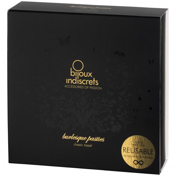 Bijoux Burlesque Pasties Läder Bröstsmycken Produktförpackning 90