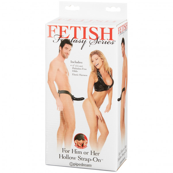 Fetish Fantasy Svart Hollow Strap-on för Honom eller Henne Produktförpackning 90