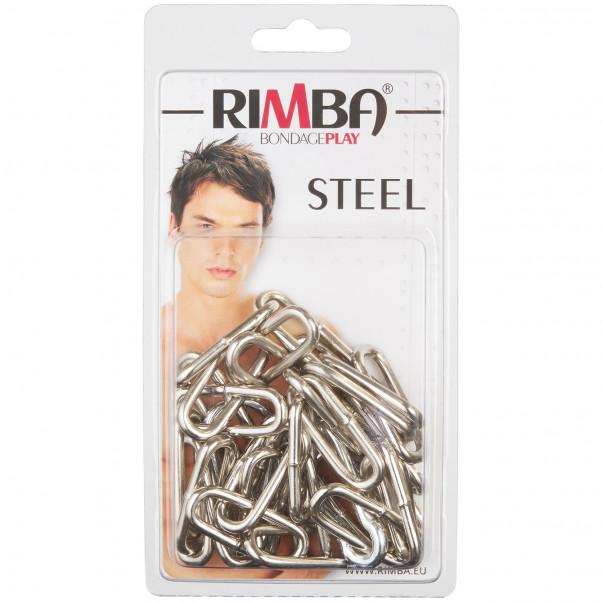 Rimba Metall Kedja Med Karbinhakar 100 cm bild på förpackningen 90