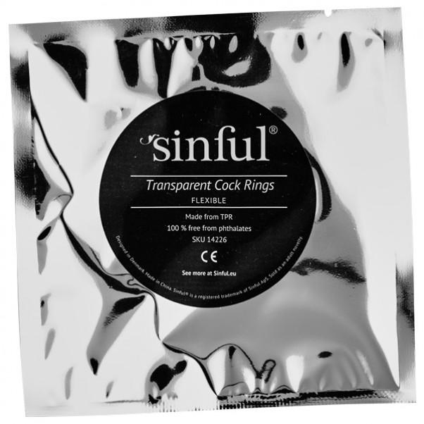Sinful Transparenta Penisringar 3 st