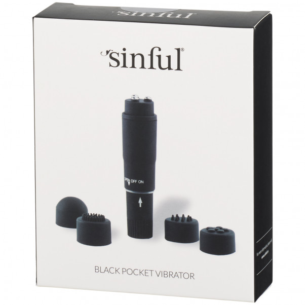 Sinful Black Pocket Vibrator Pack 90