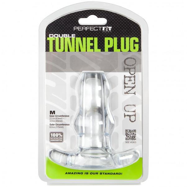 Perfect Fit Double Tunnel Buttplug Medium bild på förpackningen 90