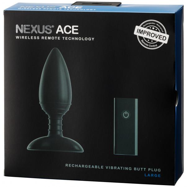 Nexus Ace Large Trådlös Uppladdningsbar Analvibrator med Fjärrkontroll  100