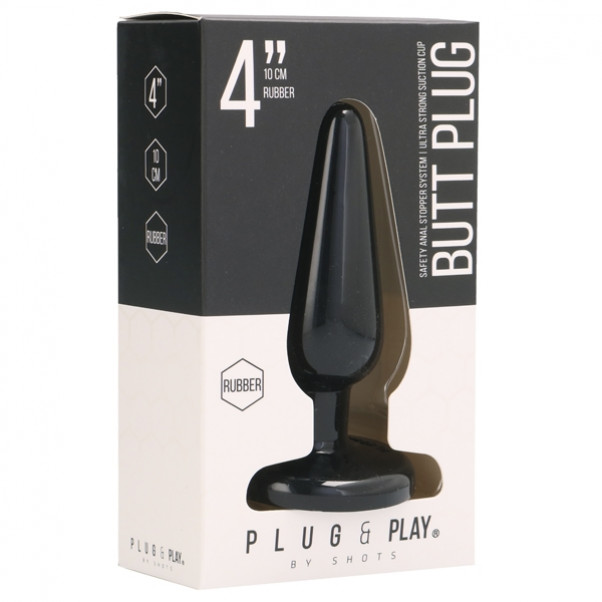 Bottom Line Rubber Butt Plug Medium