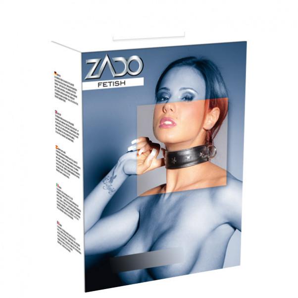 ZADO Læder Halsbånd med D-ringe