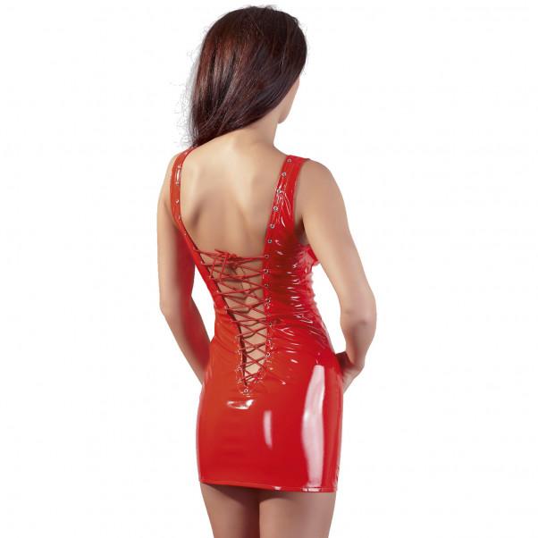 Black Level Miniklänning i Lack Röd  2