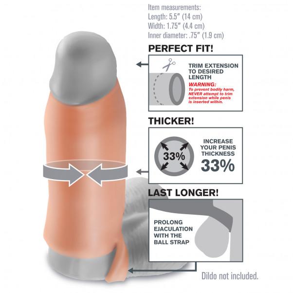 Fantasy X-tensions Real Feel Enhancer Penis Sleeve bild på förpackningen 2