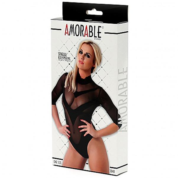 Amorable by Rimba Kroppsstrumpa med Spetskrage  3