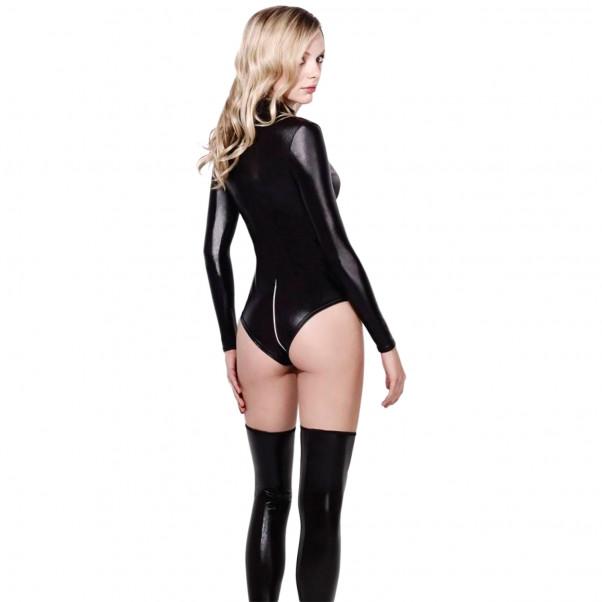 Fever Wetlook Miss Whiplash Zip-Through Bodysuit  2