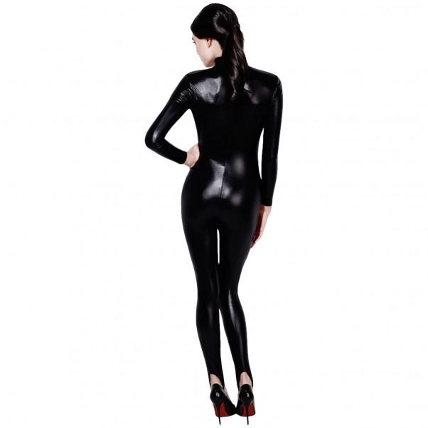 Fever Wetlook Miss Whiplash Catsuit produkt på modell 2