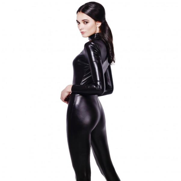 Fever Wetlook Miss Whiplash Catsuit produkt på modell 3