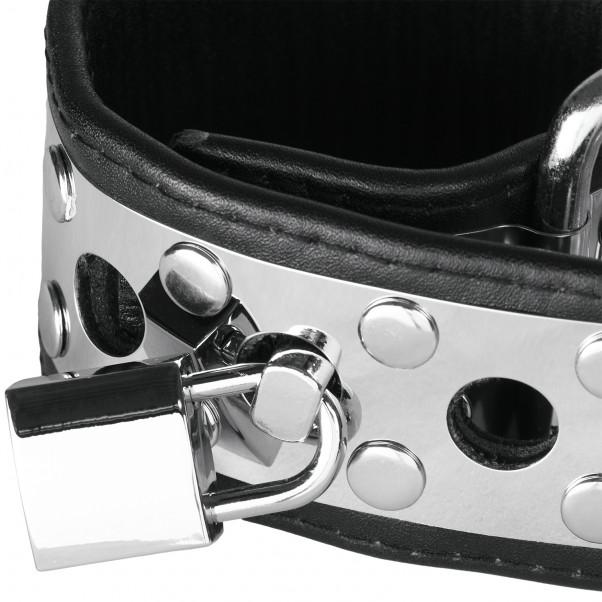Rimba Handledsmanschetter i Läder och Metall med Hänglås produktbild 2