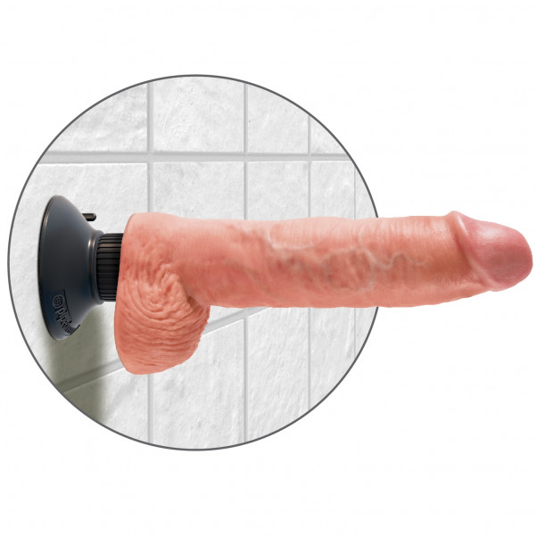 King Cock Vibrerende Dildo med Kugler 18 cm