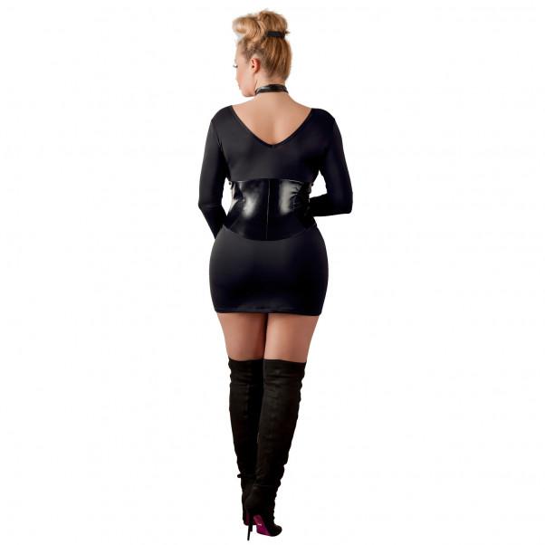 Cottelli Miniklänning med Korsett i Wetlook Plus Size  2