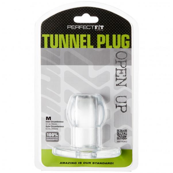 Perfect Fit Tunnel Buttplug Medium Clear bild på förpackningen 90