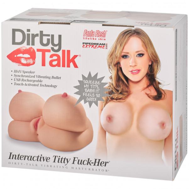 Pipedream Fuck Me Silly Dirty Talk Interaktiv Titty Fuck Onaniprodukt Pack 90