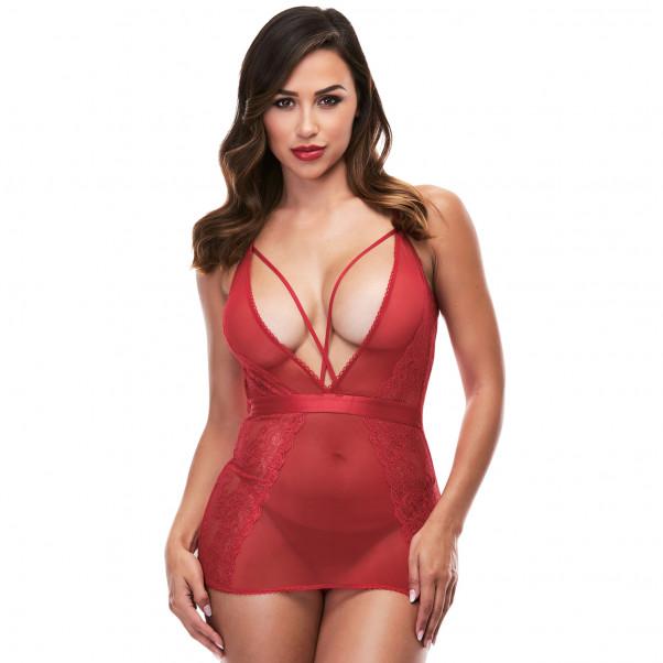 Baci Strappy Miniklänning Röd