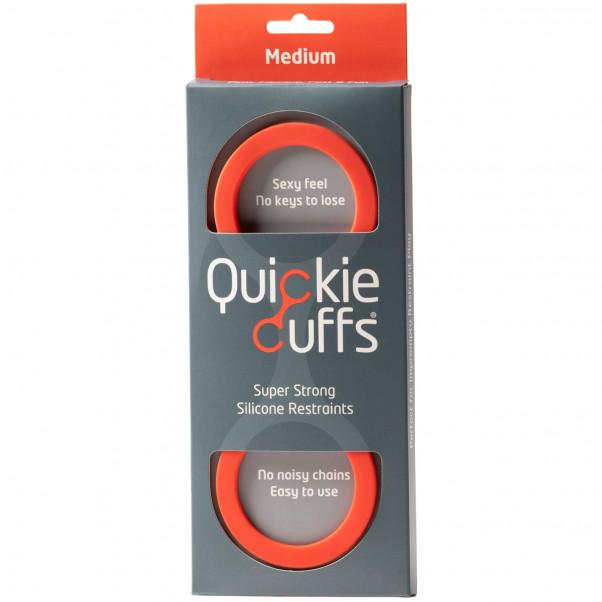 Quickie Cuffs Silikon Handbojor Medium Röda  2