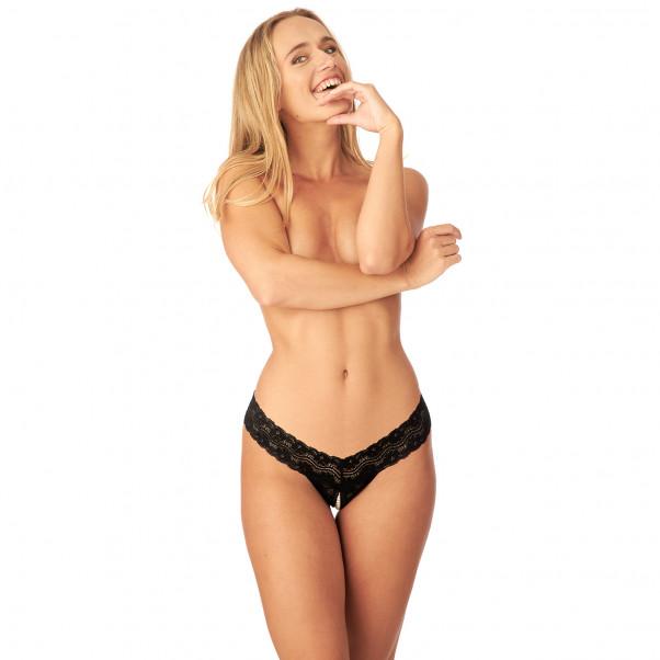 Nortie Malin Grenlös G-string med Orgasmpärlor produkt på modell 1