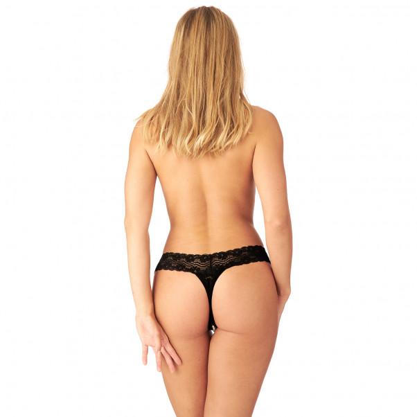 Nortie Malin Grenlös G-string med Orgasmpärlor produkt på modell 3