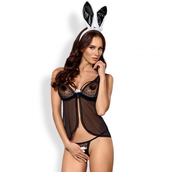 Obsessive Black Bunny Kostym  1