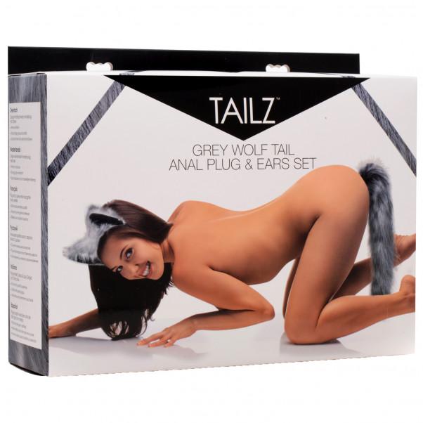 Tailz Grey Wolf Tail Analplugg och Öron  4