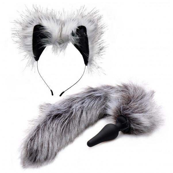 Tailz Grey Wolf Tail Analplugg och Öron  1