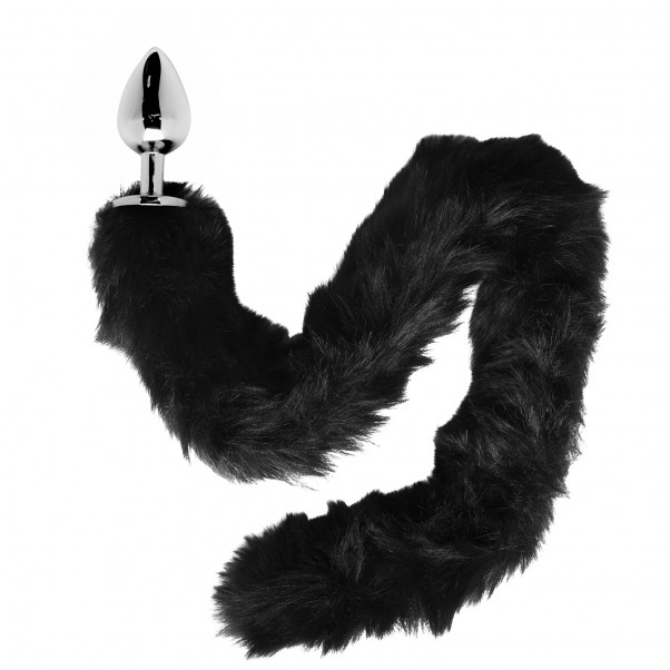 Furry Fantasy Black Panther Tail Buttplug produktbild 1