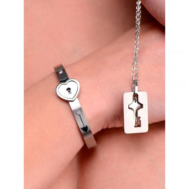 Master Series Armband med Lås och Nyckelhalsband  5