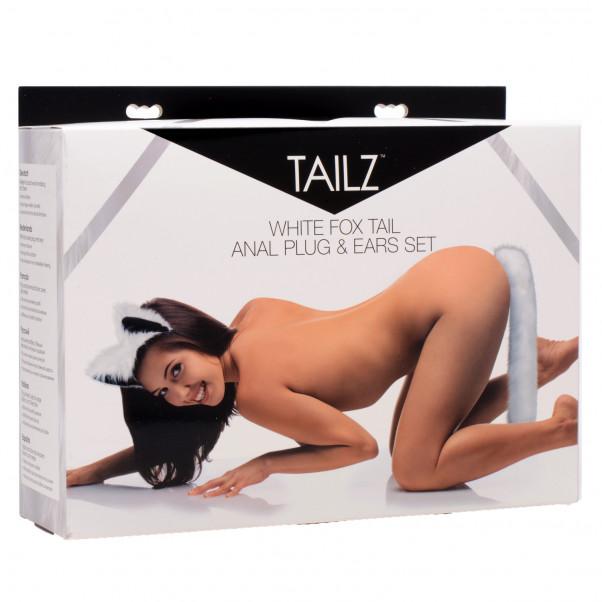 Tailz White Fox Tail Analplug och Öron  4