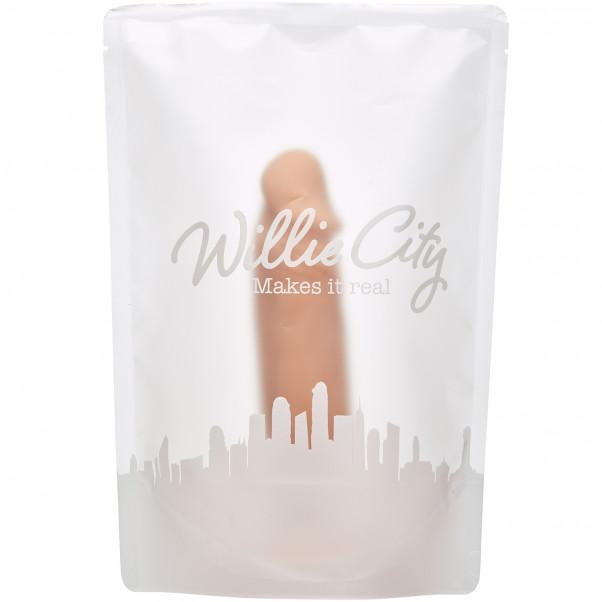 Willie City Realistisk Dildo med Sugpropp 19 cm  5