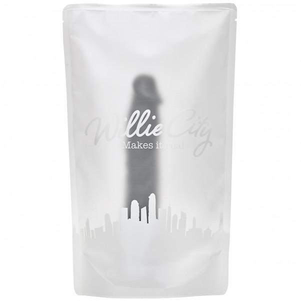 Willie City Svart Realistisk Dildo med Sugpropp 23 cm  5